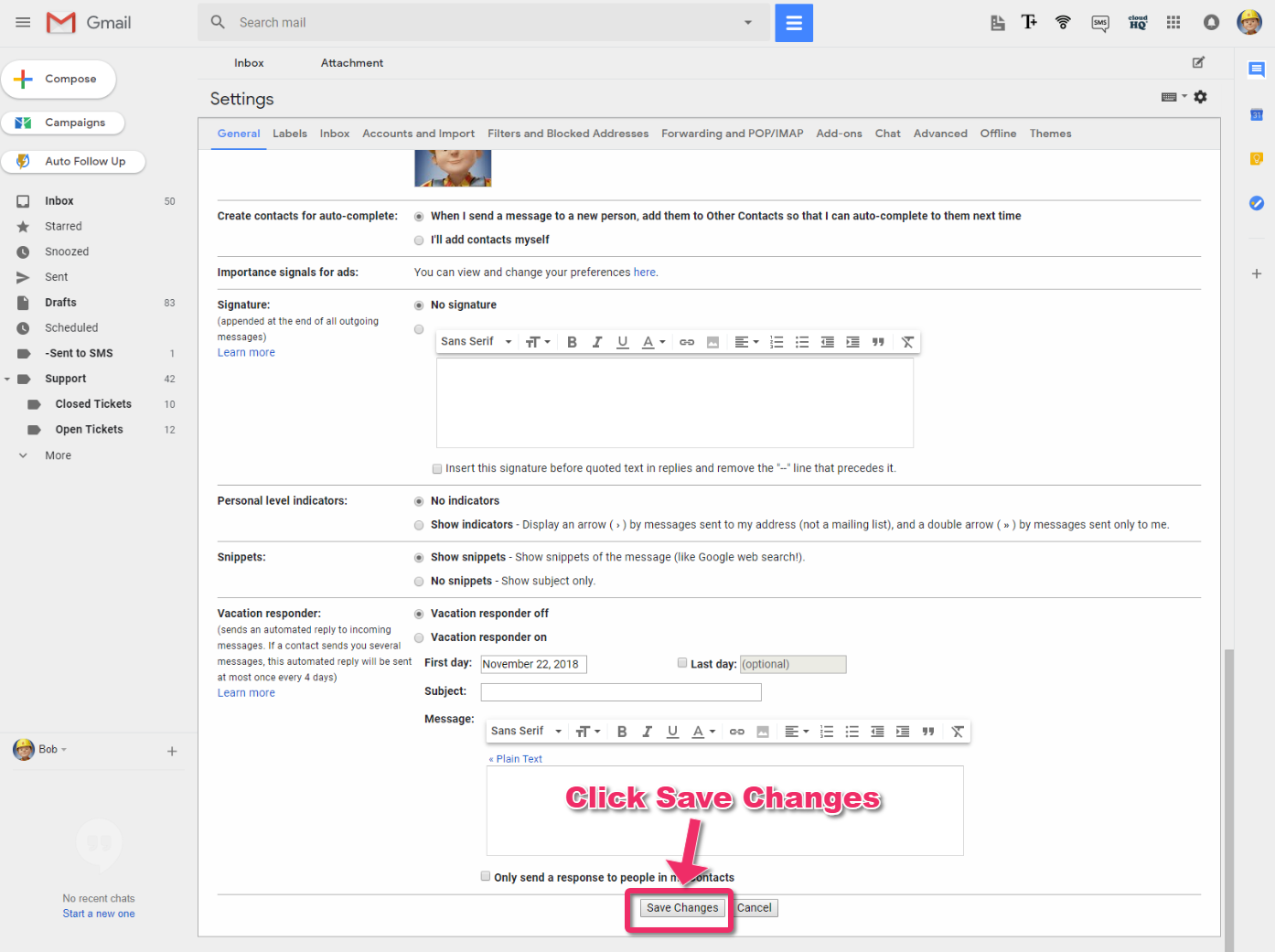 How to change Gmail icons into text – cloudHQ Support